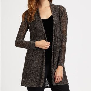 NWT Eileen Fisher Variegated Sparkle Long Cardi L